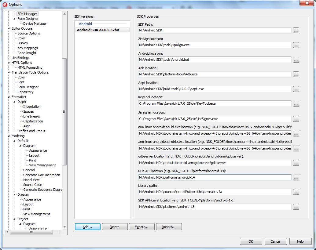 Проблема: Delphi XE5 не определяет моё Android-устройство в Target